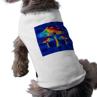 Psychedelic Mushrooms Doggie Tshirt