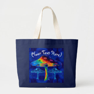 Psychedelic Mushrooms Large Tote Bag