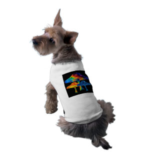 Psychedelic Mushrooms Pet Tee Shirt