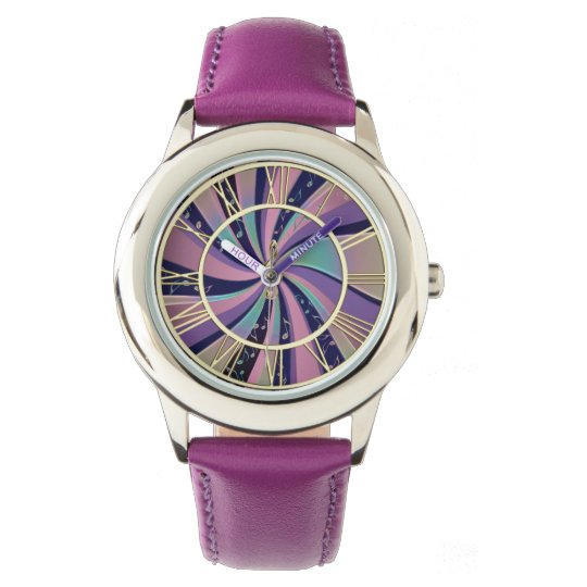 Psychedelic Music Notes Swirl Watches