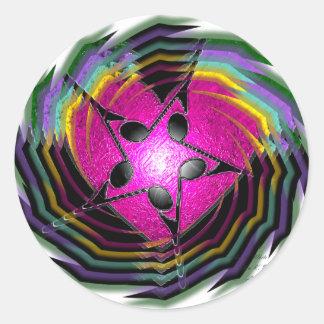 Psychedelic Music Round Sticker