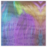 Psychedelic Musical Notes Fabric