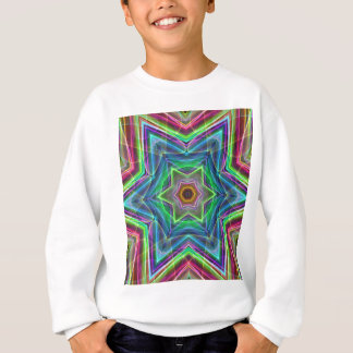 Psychedelic Neon Cool Modern Star Shapes Sweatshirt