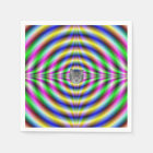 Psychedelic Neon Eye Napkin