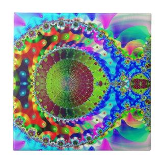 Psychedelic Neon Fractal Tile