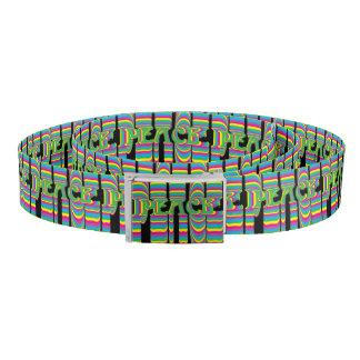 Psychedelic Neon Peace Black Belt