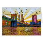 Psychedelic New York City: Brooklyn Bridge, WTC #1 Card