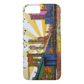 Psychedelic New York City: Brooklyn Bridge, WTC #1 Case-Mate iPhone Case