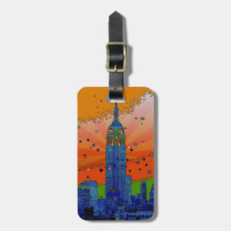 Psychedelic NYC: Empire State Building #3 Luggage Tag