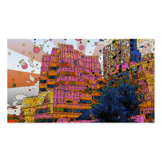 Psychedelic NYC: IAC Building, 100 W 11th Street Business Card