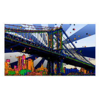 Psychedelic NYC: Manhattan Bridge #1 Business Card