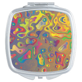 Psychedelic Oils Compact Mirrors