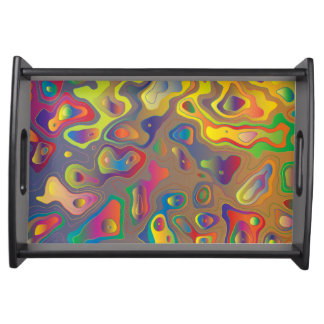 Psychedelic Oils Serving Tray