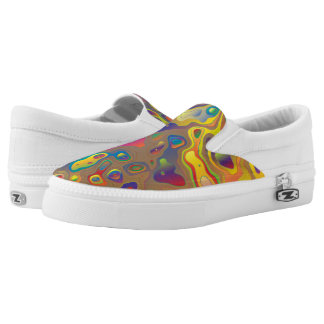 Psychedelic Oils Slip-On Sneakers