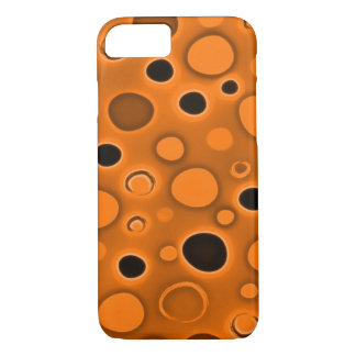 Psychedelic Orange Lava Lamp Bubbles iPhone 7 Case