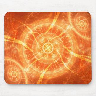 Psychedelic Orange Light Design Mousepad