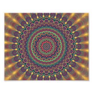 Psychedelic oval  mandala art photo