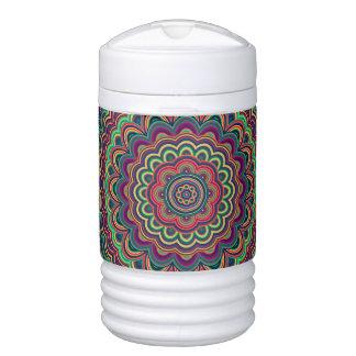 Psychedelic oval  mandala cooler