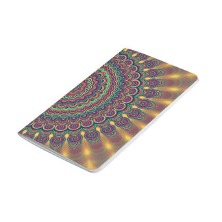 Psychedelic oval  mandala journal
