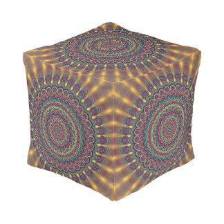 Psychedelic oval  mandala pouf