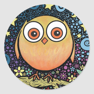 Psychedelic Owl Stickers