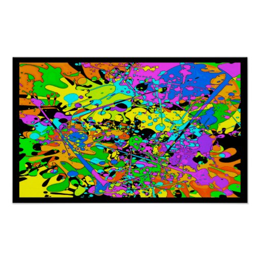 Psychedelic Paint Party Poster