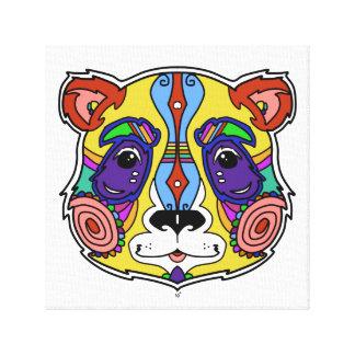Psychedelic Panda artwork colorful design Canvas Print