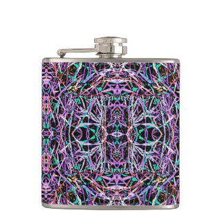 Psychedelic Pattern in Pink Flasks