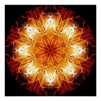 Psychedelic Patterns Mandala Poster