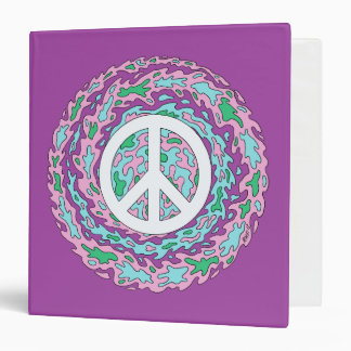 Psychedelic Peace 3 Ring Binder