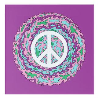 Psychedelic Peace Acrylic Wall Art