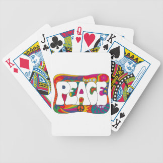 Psychedelic Peace and Love Poker Deck