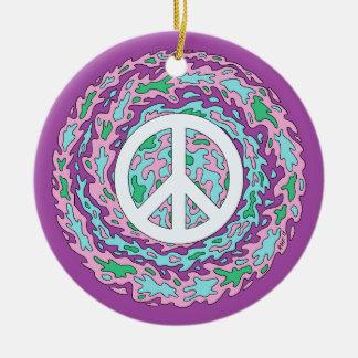 Psychedelic Peace Ceramic Ornament
