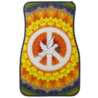 Psychedelic Peace Dove Car Liners