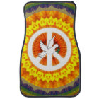 Psychedelic Peace Dove Car Mat