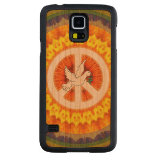 Psychedelic Peace Dove Carved Cherry Galaxy S5 Case