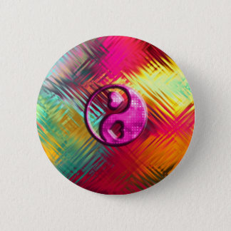 Psychedelic Peace Love Design 2 Inch Round Button