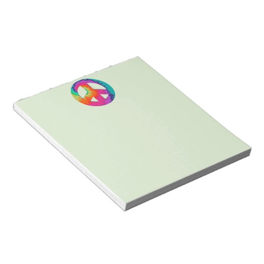 Psychedelic Peace Notepad