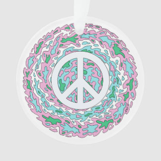Psychedelic Peace Ornament