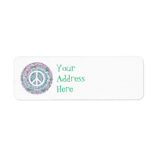Psychedelic Peace Return Address Label