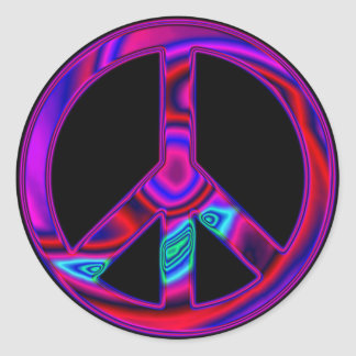 Psychedelic Peace Round Sticker