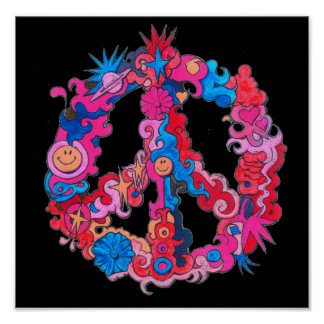 Psychedelic Peace Sign
