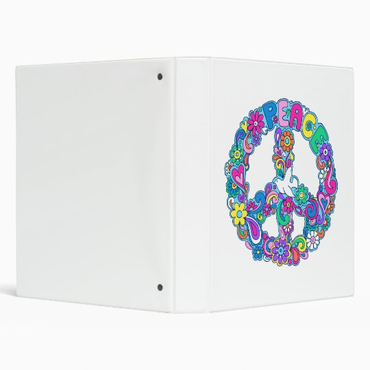 Psychedelic Peace Sign Binder