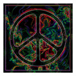 psychedelic peace sign poster