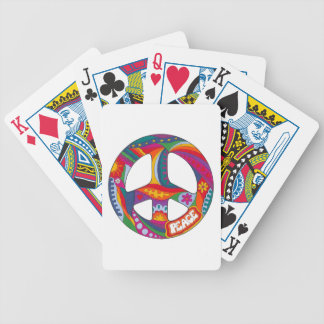 Psychedelic Peace Symbol Bicycle Playing Cards