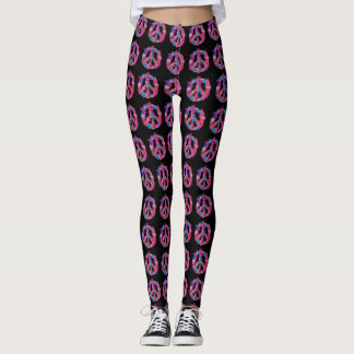 Psychedelic Peace Symbol Leggings