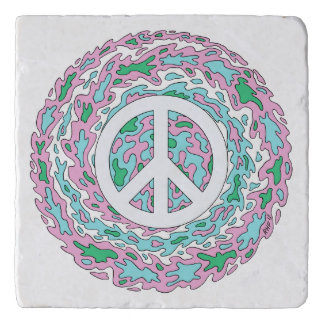 Psychedelic Peace Trivet