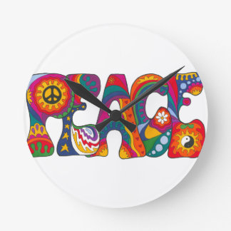 Psychedelic Peace Wallclock