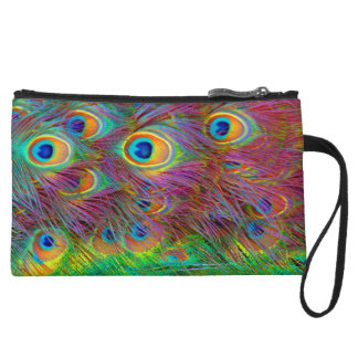 Psychedelic Peacock Feather Purse