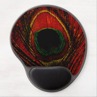 Psychedelic Peacock Gel Mouse Pad